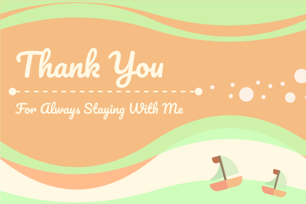 Greeting Card template: Thank You Greeting Card _ Boats (Created by InfoART's Greeting Card marker)