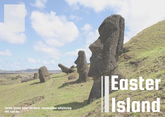 Postcard template: Easter Island Postcard (Created by InfoART's Postcard maker)