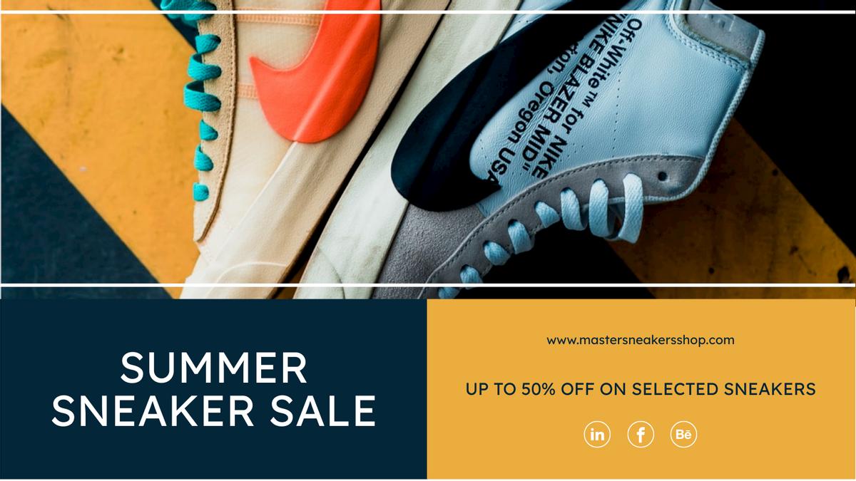 Twitter Post template: Summer Sneaker Sale Twitter Post (Created by InfoART's Twitter Post maker)