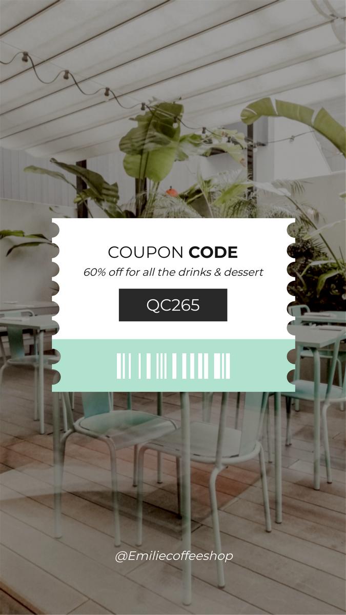 Instagram Story template: Coupon Code For Restaurant Instagram Story (Created by InfoART's Instagram Story maker)