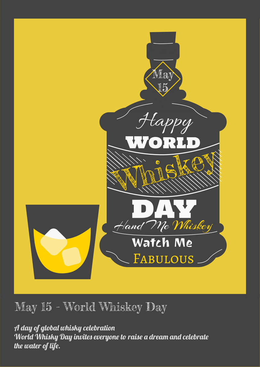 Poster template: Whiskey Day Poster (Created by InfoART's Poster maker)