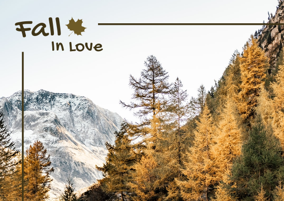 Post Card template: Fall In Love Post Card (Created by InfoART's Post Card marker)