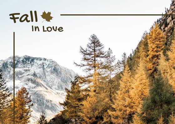 Postcard template: Fall In Love Postcard (Created by InfoART's Postcard maker)