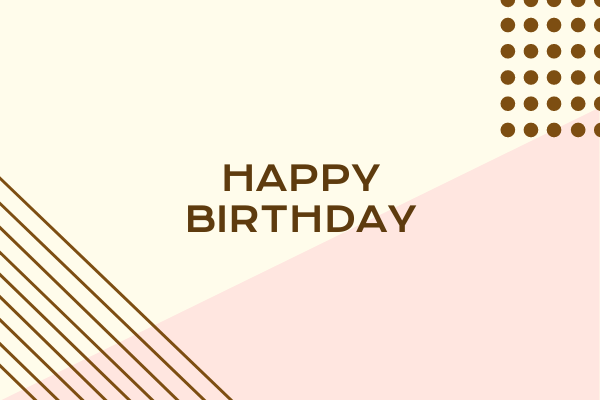 Greeting Card template: Happy Birthday Greeting Card (Created by InfoART's Greeting Card maker)