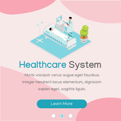 Isometric Diagram template: Healthcare System Slider (Created by InfoART's Isometric Diagram marker)