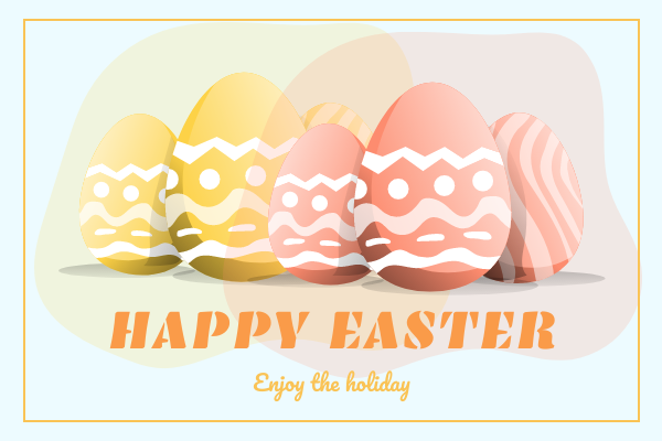Greeting Card template: Happy Easter Greeting Card (Created by InfoART's Greeting Card maker)
