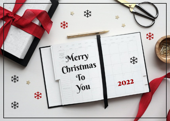 Postcard template: Minimal Merry Christmas To You Postcard (Created by InfoART's Postcard maker)