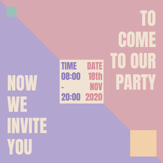 Invitation template: Color Invitation (Created by InfoART's Invitation marker)