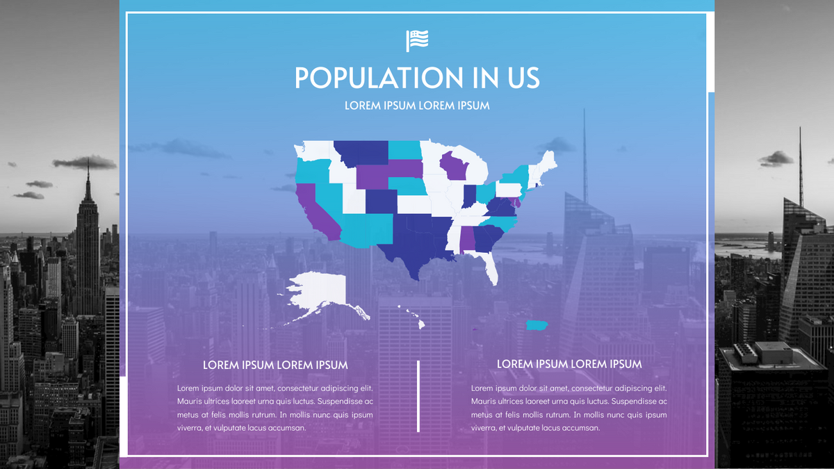 Geo Map template: Population In US Geo Map  (Created by Chart's Geo Map maker)