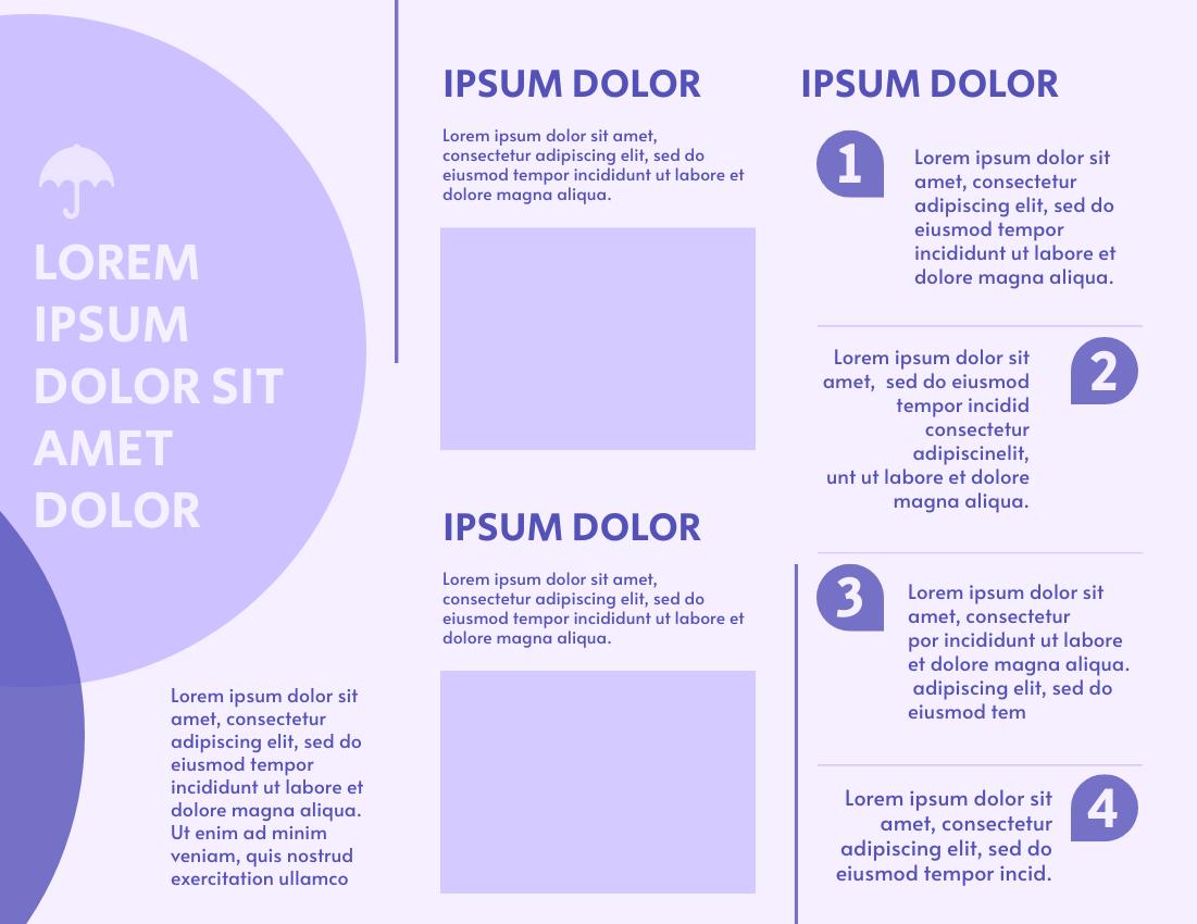 Brochure template: Purple Style Brochure (Created by InfoART's Brochure marker)