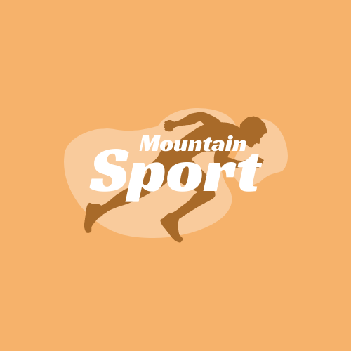 Logo template: Sport Equipment Store Logo Generated With Silhouette Of Runner (Created by InfoART's Logo maker)