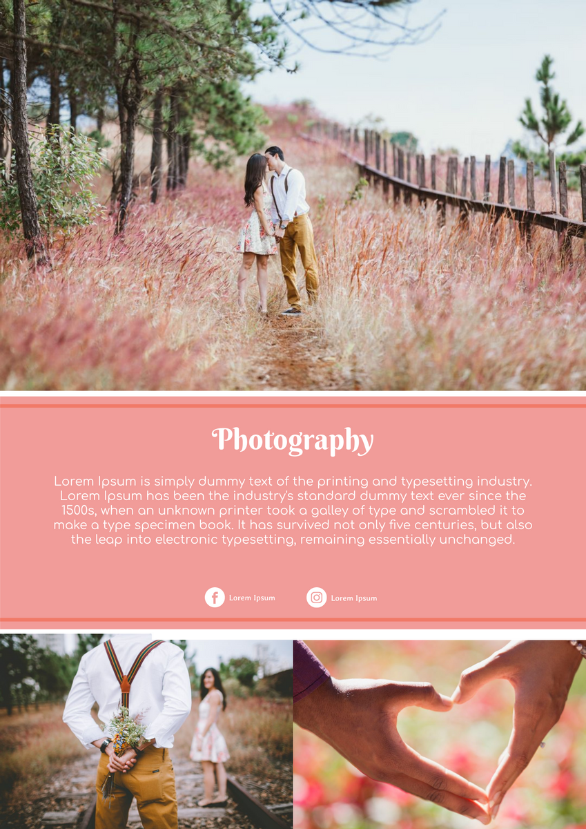 Poster template: Photography Poster (Created by InfoART's Poster maker)