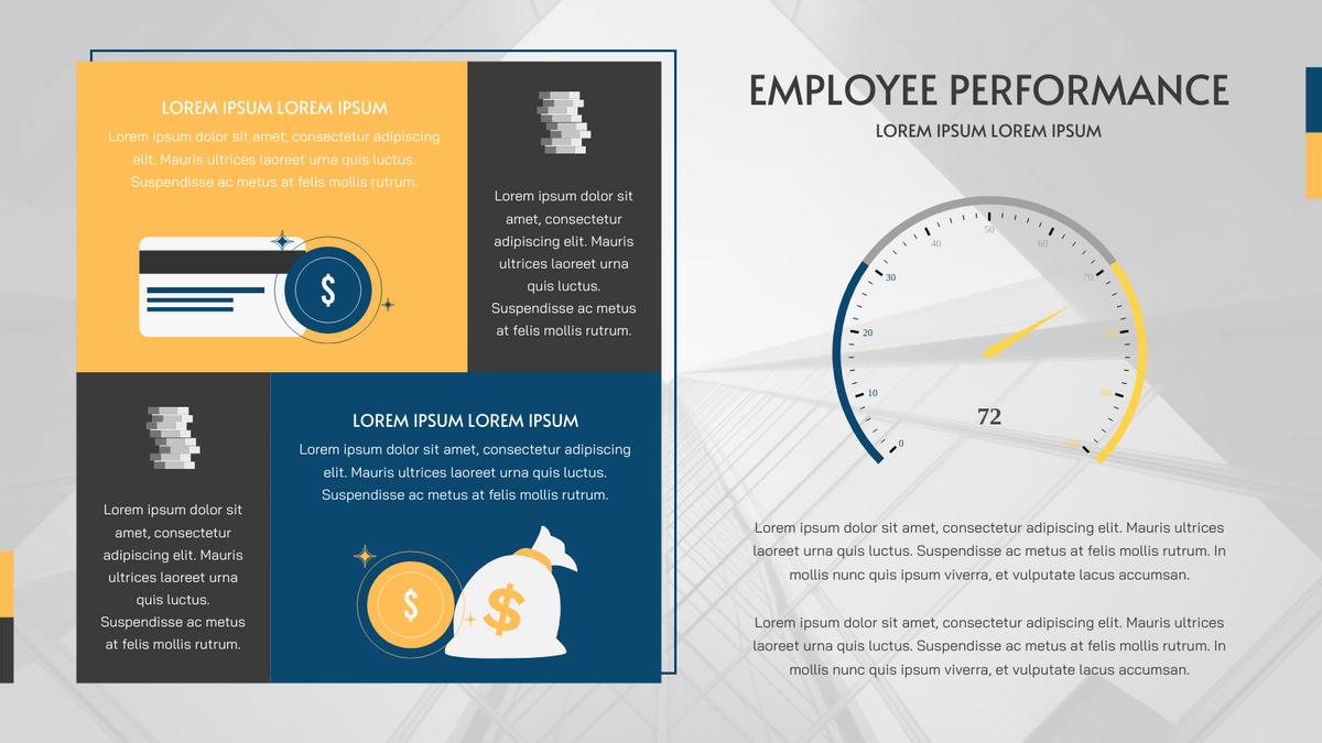 Gauge Chart template: Employee Performance Gauge Chart (Created by Chart's Gauge Chart maker)