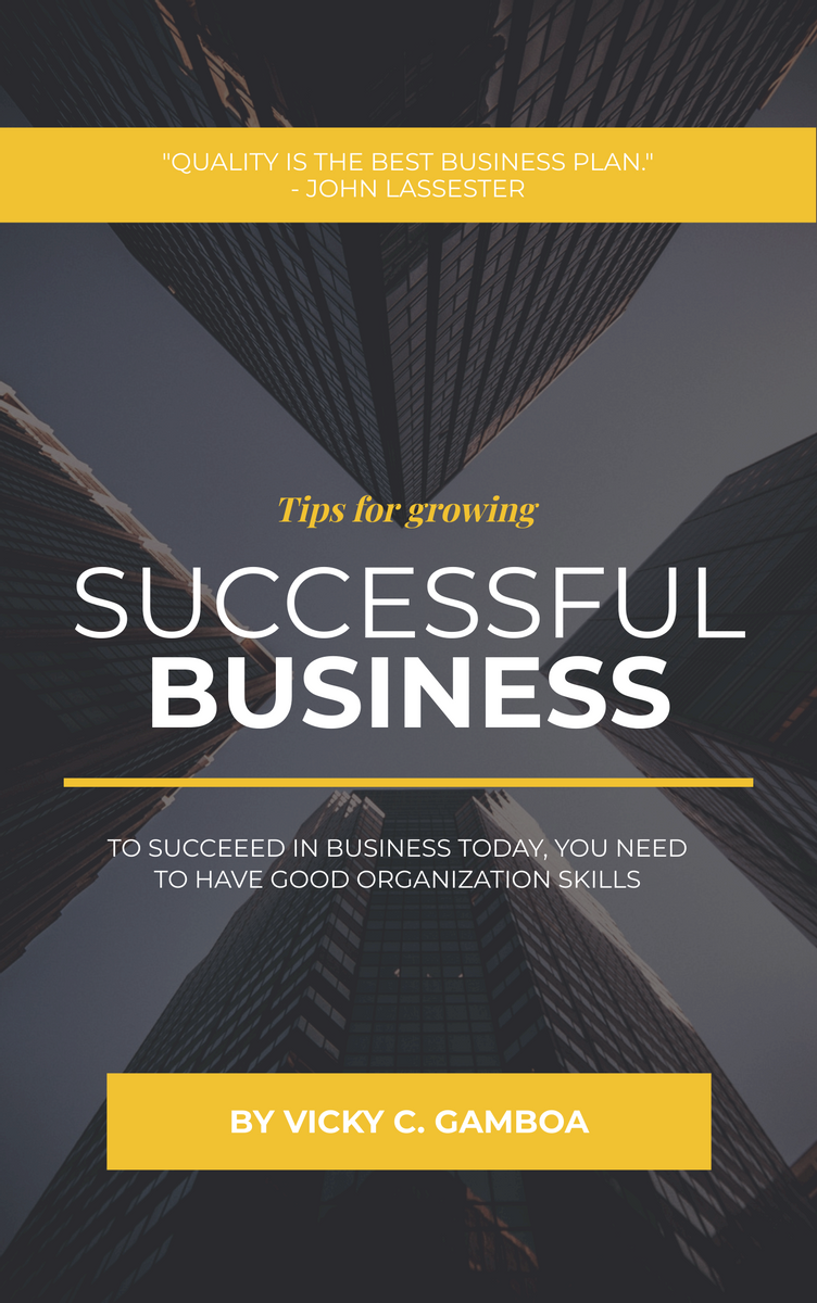 Book Cover template: Growing Successful Business Book Cover (Created by InfoART's Book Cover maker)