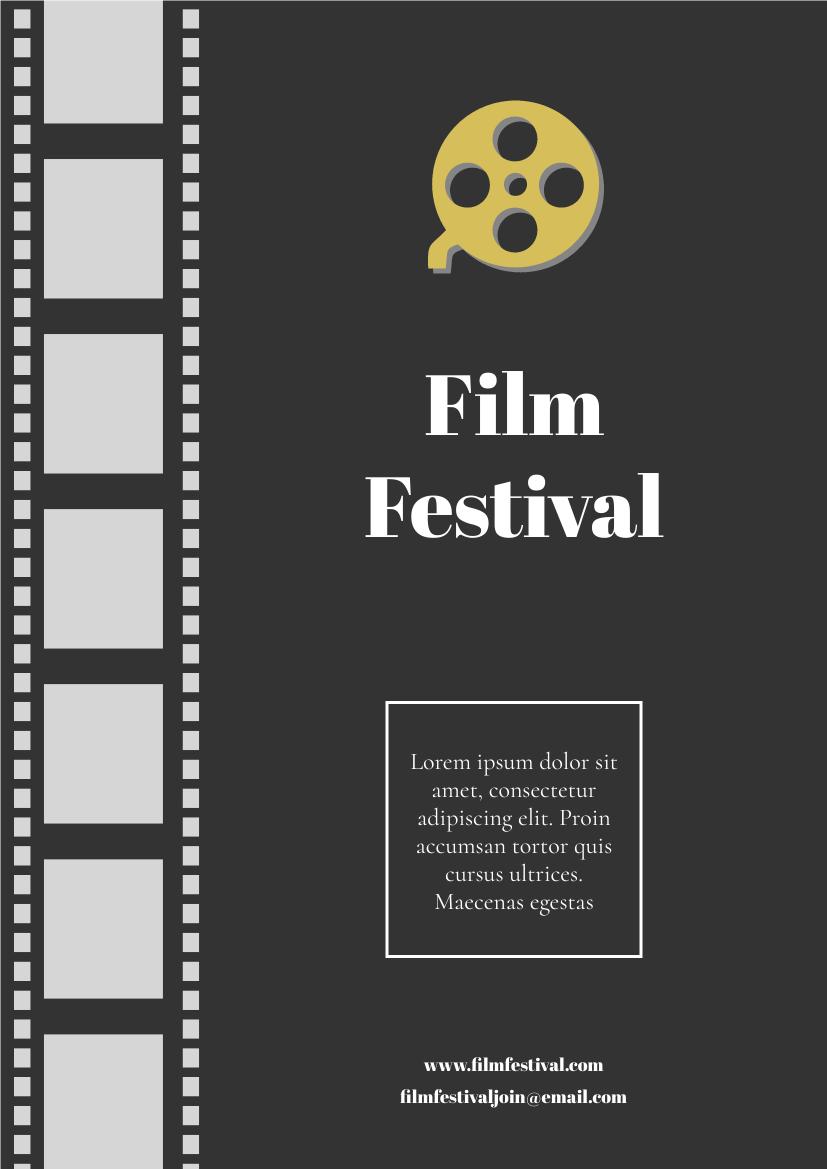 Flyer template: Film Festival Flyer (Created by InfoART's Flyer maker)