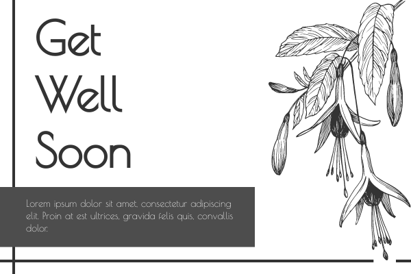 Greeting Card template: Get Well Soon Flower Greeting Card (Created by InfoART's Greeting Card maker)