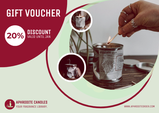 Gift Card template: Fragrance Candle Gift Card (Created by InfoART's Gift Card maker)