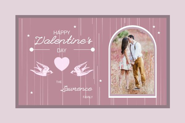 Greeting Card template: Love Bird Card (Created by InfoART's Greeting Card maker)