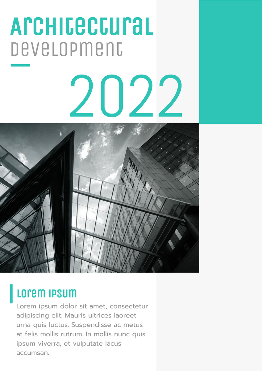 Poster template: Architectural Development 2020 (Created by InfoART's Poster maker)