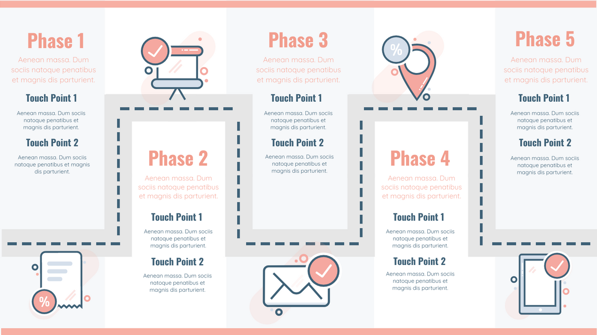 Customer Journey Map template: Customer Journey for Infographic (Created by InfoART's Customer Journey Map maker)