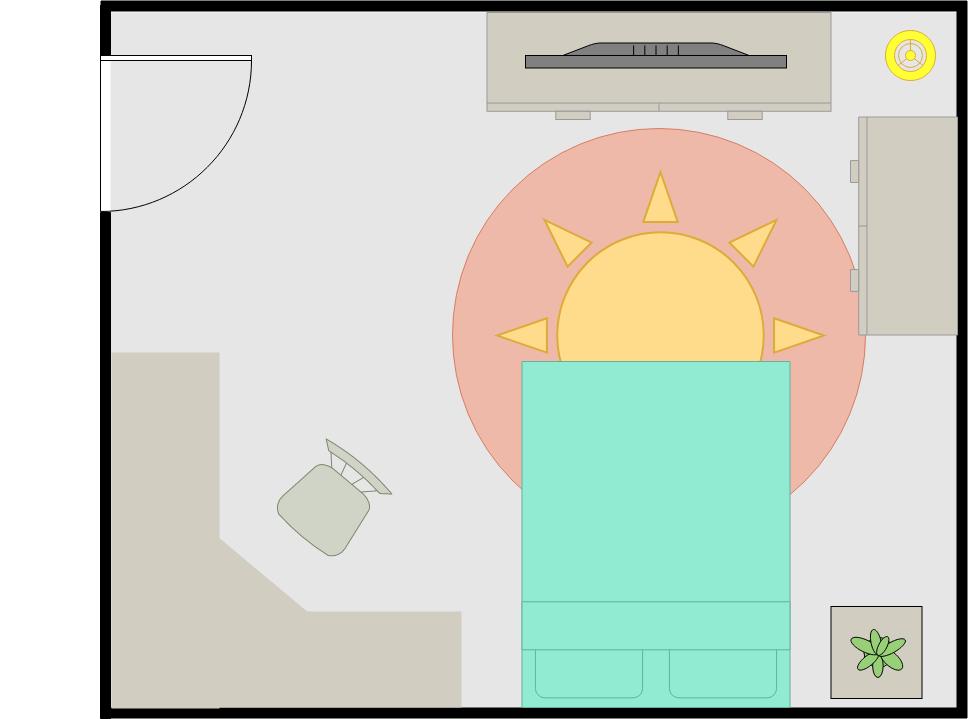Bedroom Floor Plan template: Guest Bedroom (Created by Diagrams's Bedroom Floor Plan maker)