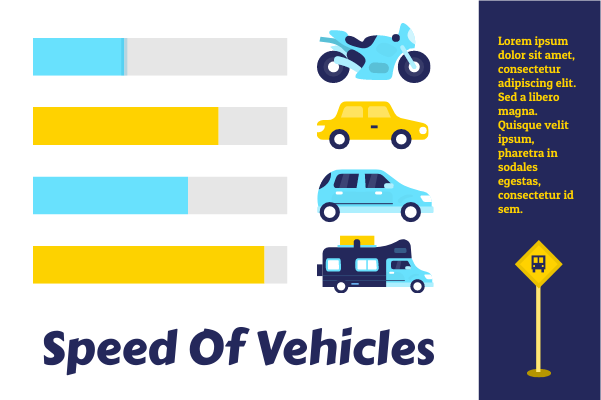 Transport template: Speed Of Vehicles (Created by InfoChart's Transport maker)
