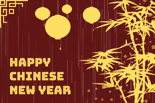 Greeting Card template: Simple Chinese New Year Greeting Card (Created by InfoART's Greeting Card maker)