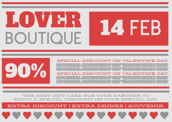 Gift Card template: Valentine Gift Card For Partner (Created by InfoART's Gift Card maker)