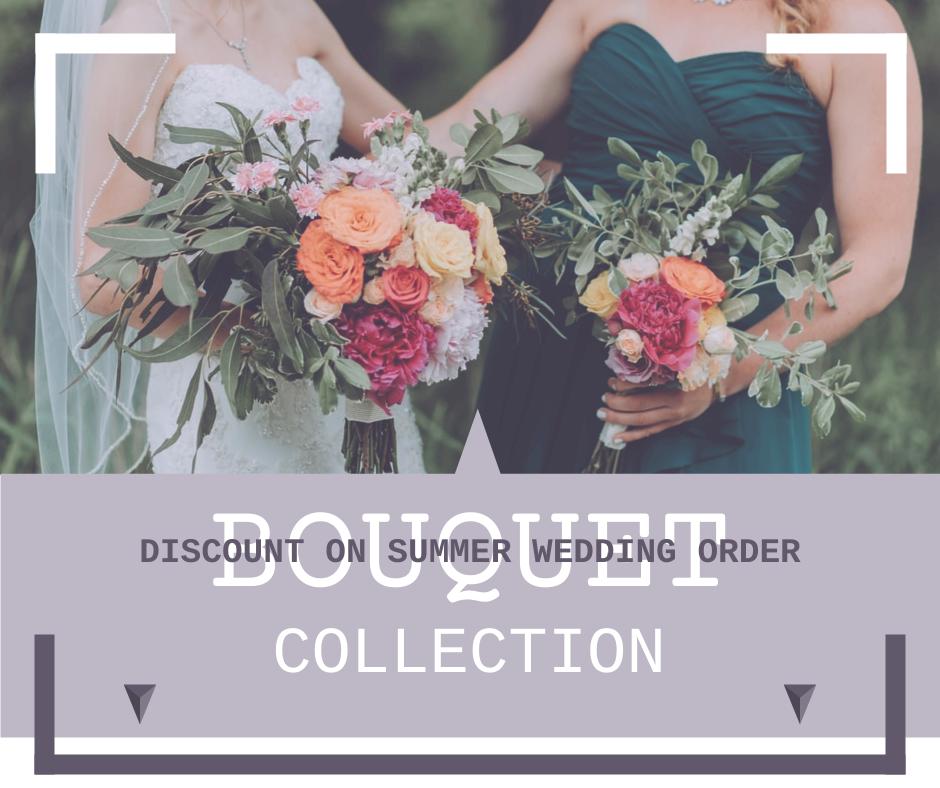 Facebook Post template: Bouquet Order Advert Facebook Post (Created by InfoART's Facebook Post maker)