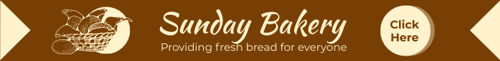 Banner Ad template: Bakery Banner Ad (Created by InfoART's Banner Ad maker)