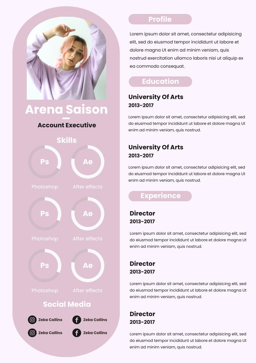 Pink Peach Resume