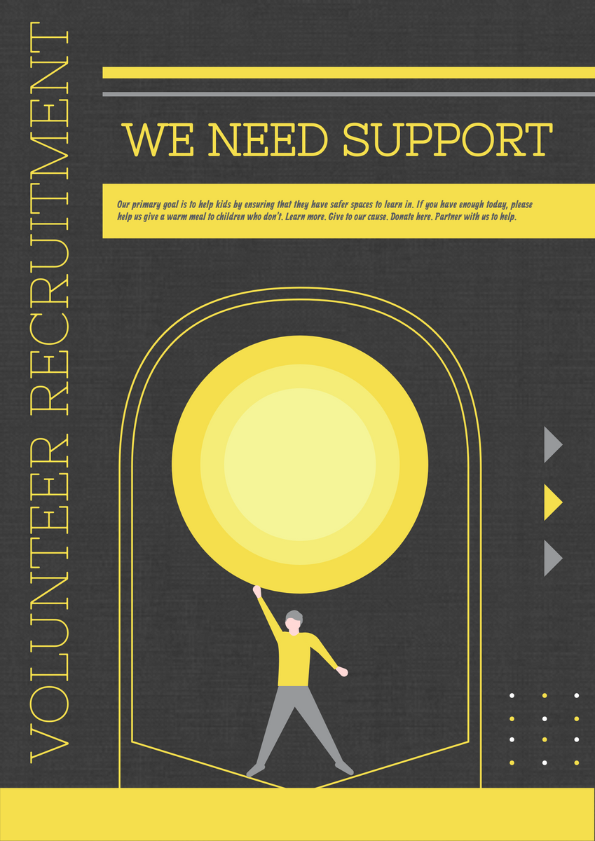 Poster template: Charity Recruit Poster (Created by InfoART's Poster maker)