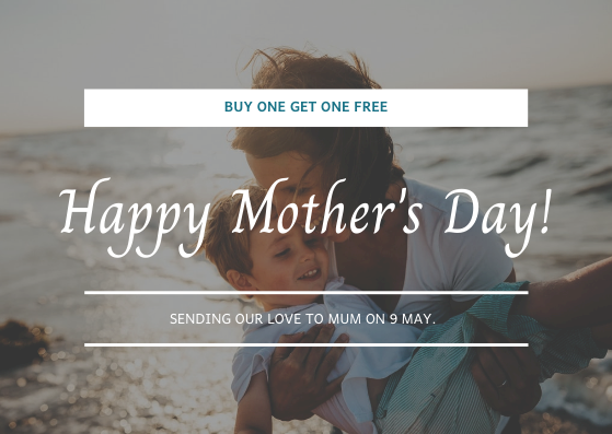 Gift Card template: Simple White Mother's Day Photo Gift Card (Created by InfoART's Gift Card maker)