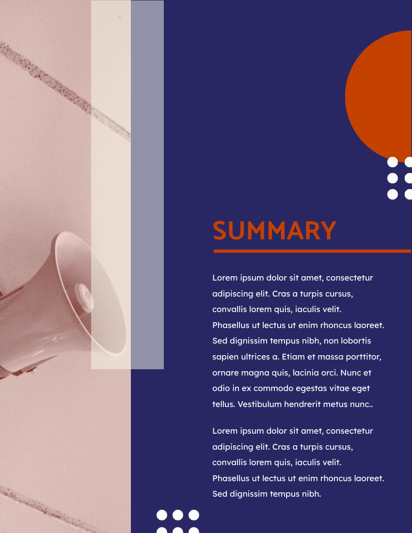 Report template: Purple And Red Digital Media Annual Report (Created by InfoART's Report maker)