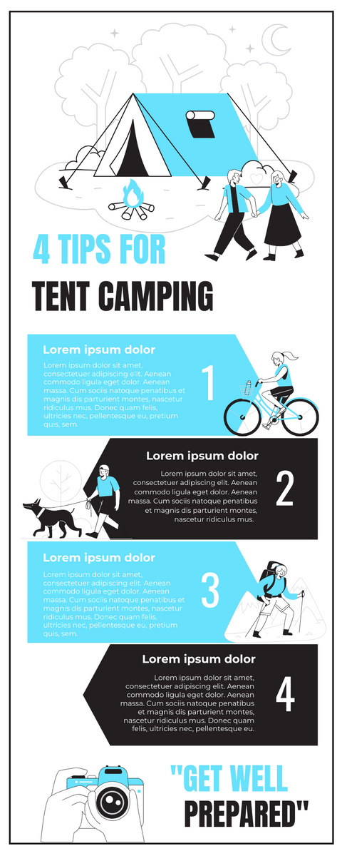 Infographic template: 4 Tips For Camping Infographic (Created by InfoART's Infographic maker)