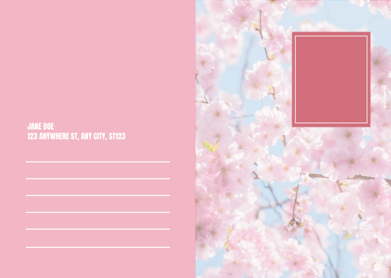 Postcard template: Pink Cherry Blossom Spring Sale Postcard (Created by InfoART's Postcard maker)
