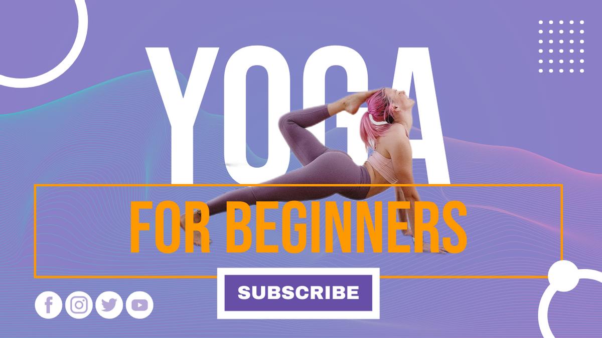 YouTube Thumbnail template: Yoga For Beginners YouTube Thumbnail (Created by InfoART's YouTube Thumbnail maker)