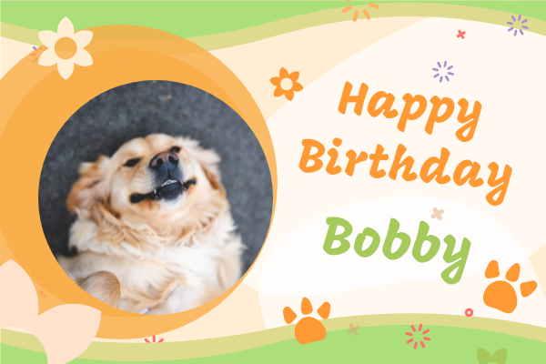 Greeting Card template: Happy Birthday To Pet Greeting Card (Created by InfoART's Greeting Card maker)
