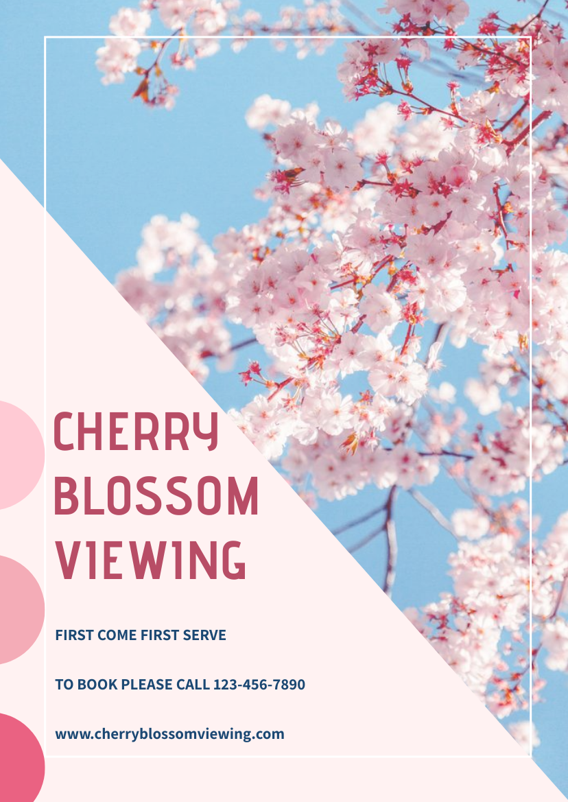 Flyer template: Cherry Blossom Viewing Flyer (Created by InfoART's Flyer maker)