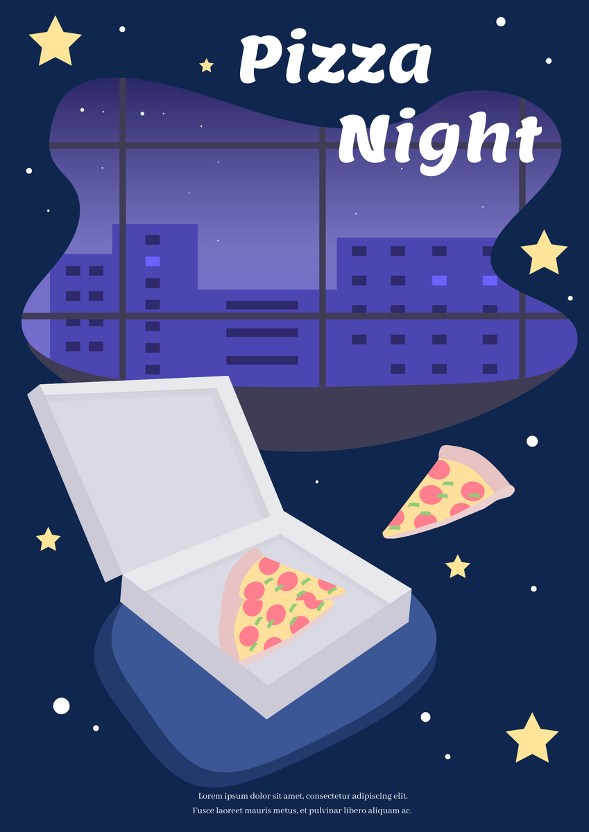 Poster template: Pizza Night Poster (Created by InfoART's Poster maker)