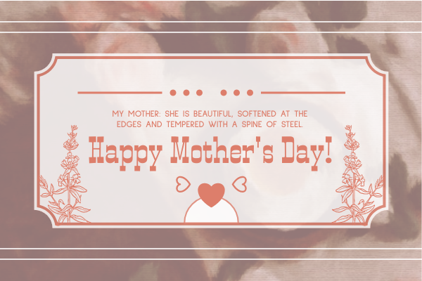 Greeting Card template: Floral Mother's Day Greeting Card (Created by InfoART's Greeting Card maker)