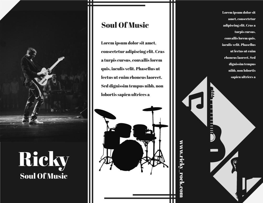 Brochure template: Musician Brochure (Created by InfoART's Brochure maker)