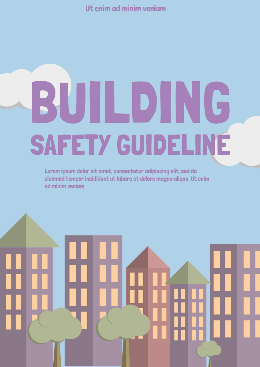 Poster template: Building Safe Guide Poster (Created by InfoART's Poster marker)