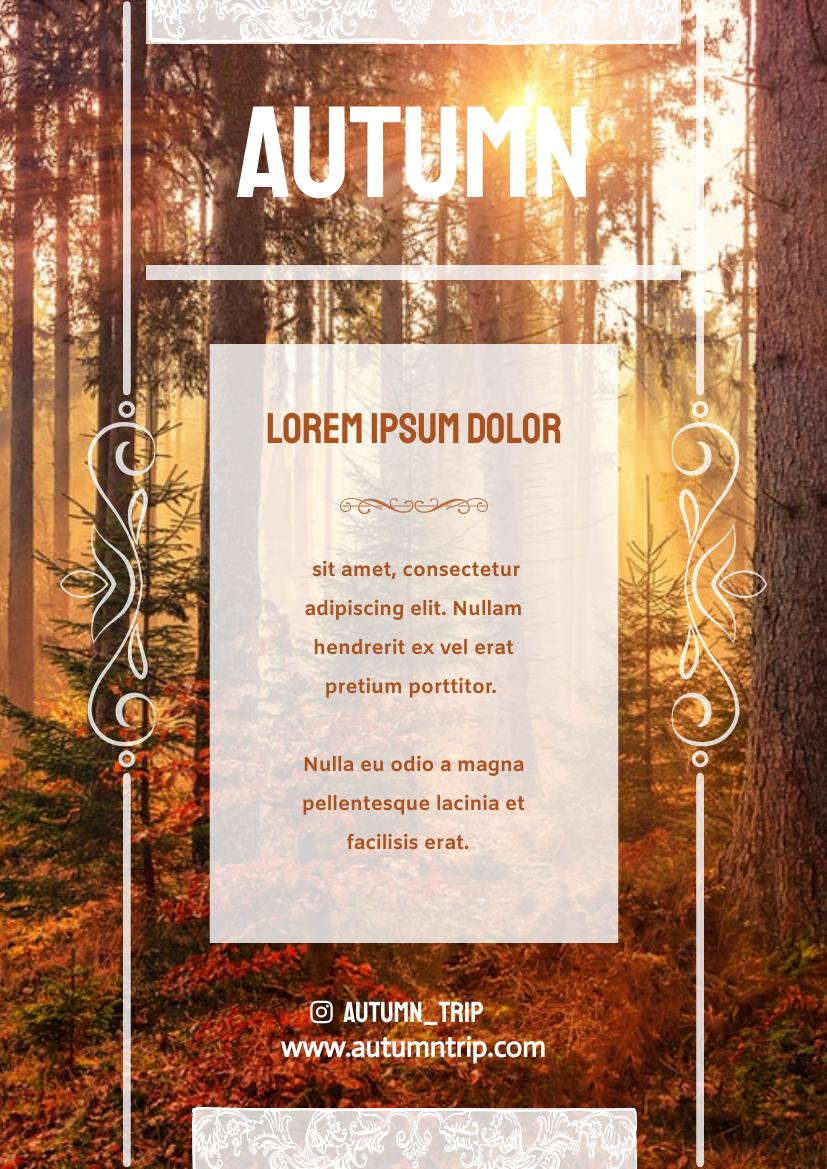 Flyer template: Autumn Trip Flyer (Created by InfoART's Flyer maker)