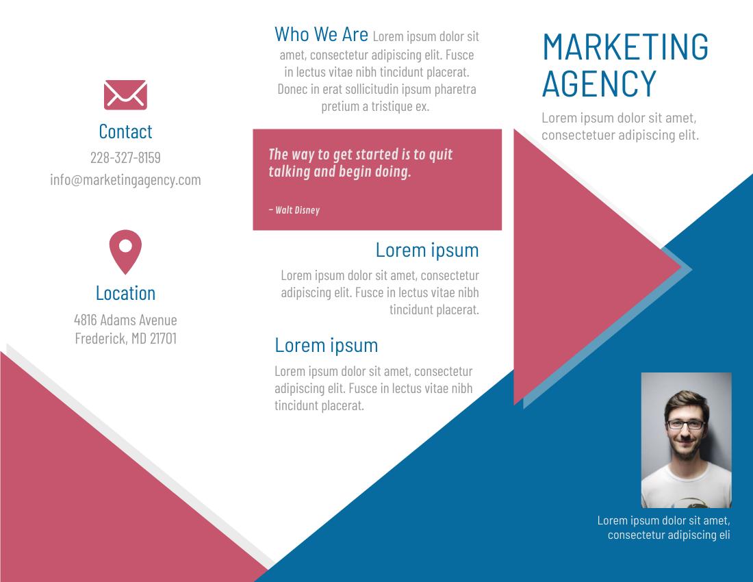 Brochure template: Marketing Agency (Created by InfoART's Brochure marker)