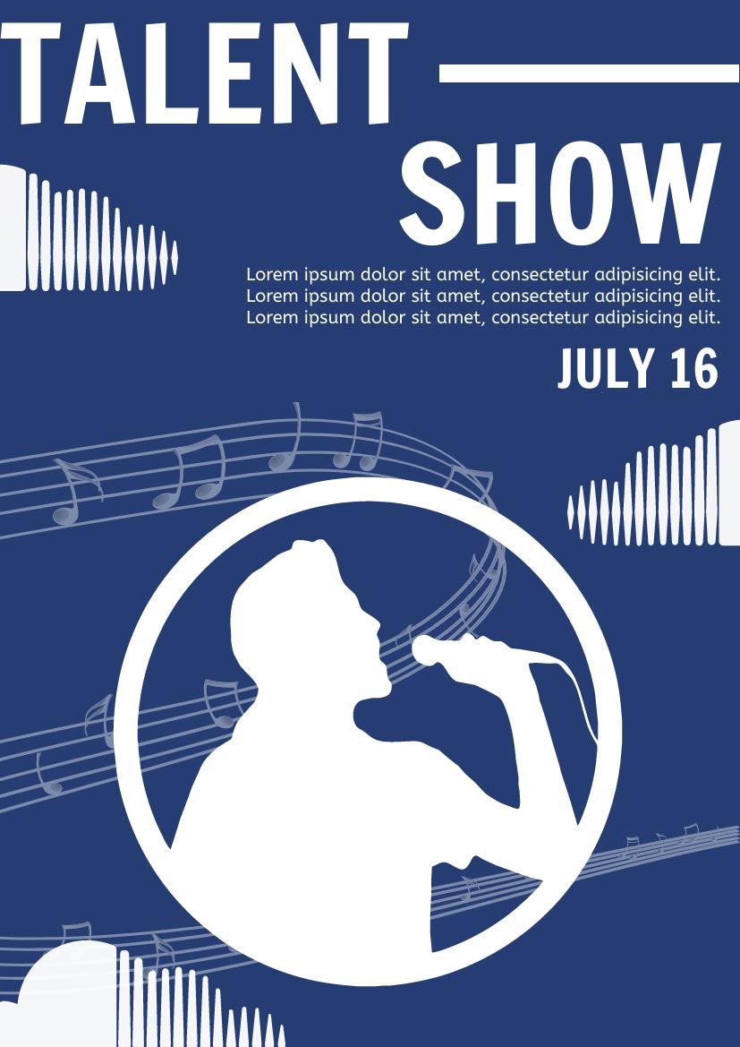 Flyer template: Talent Show Flyer (Created by InfoART's Flyer maker)
