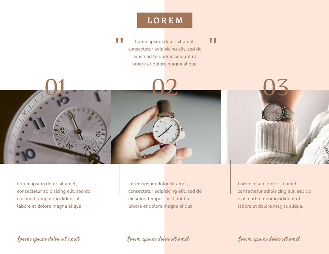 Brochure template: Time And Watch Brochure (Created by InfoART's Brochure maker)
