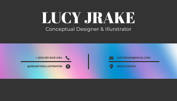 Business Card template: Black And Holographic Business Card (Created by InfoART's Business Card maker)