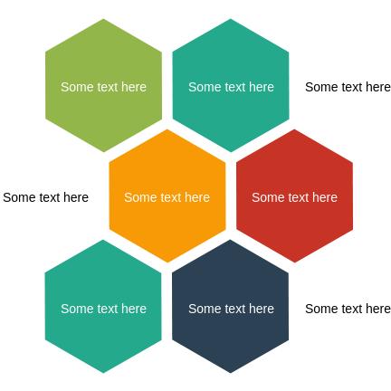 List Block Diagram template: Alternating Hexagons (Created by Diagrams's List Block Diagram maker)