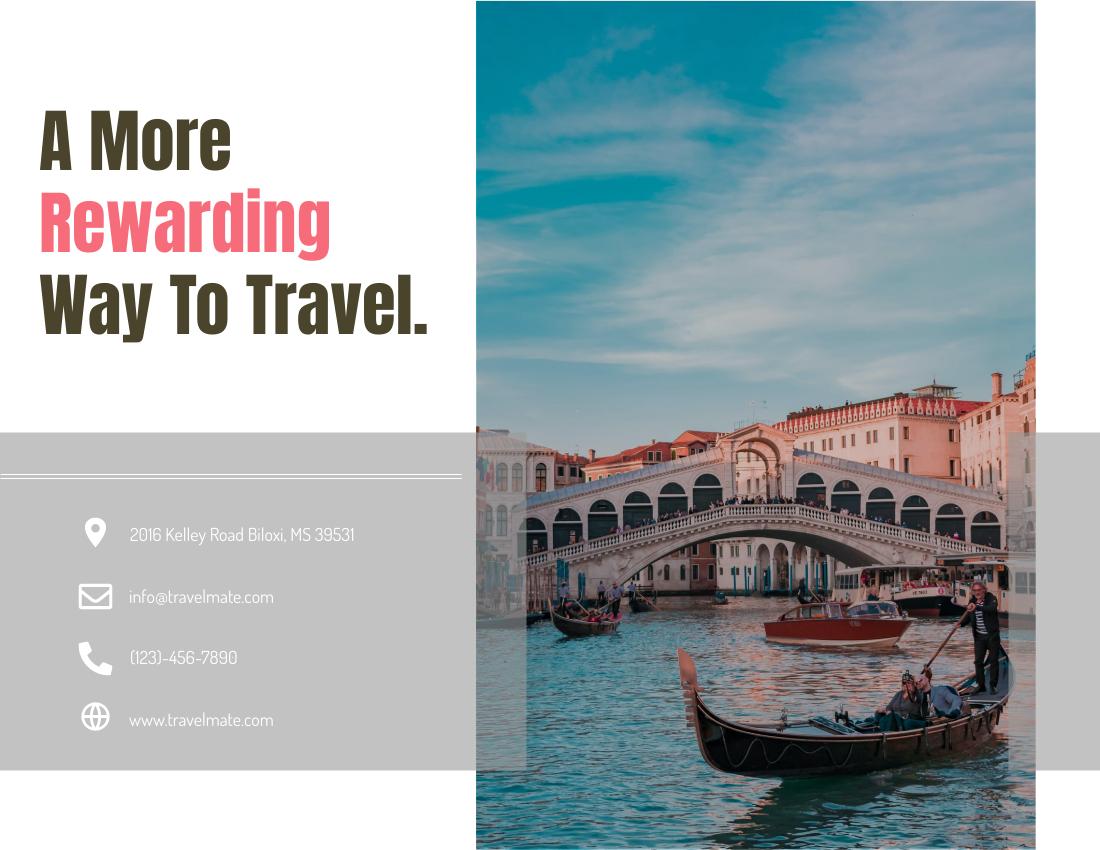 Brochure template: Travel Brochure 2 (Created by InfoART's Brochure marker)